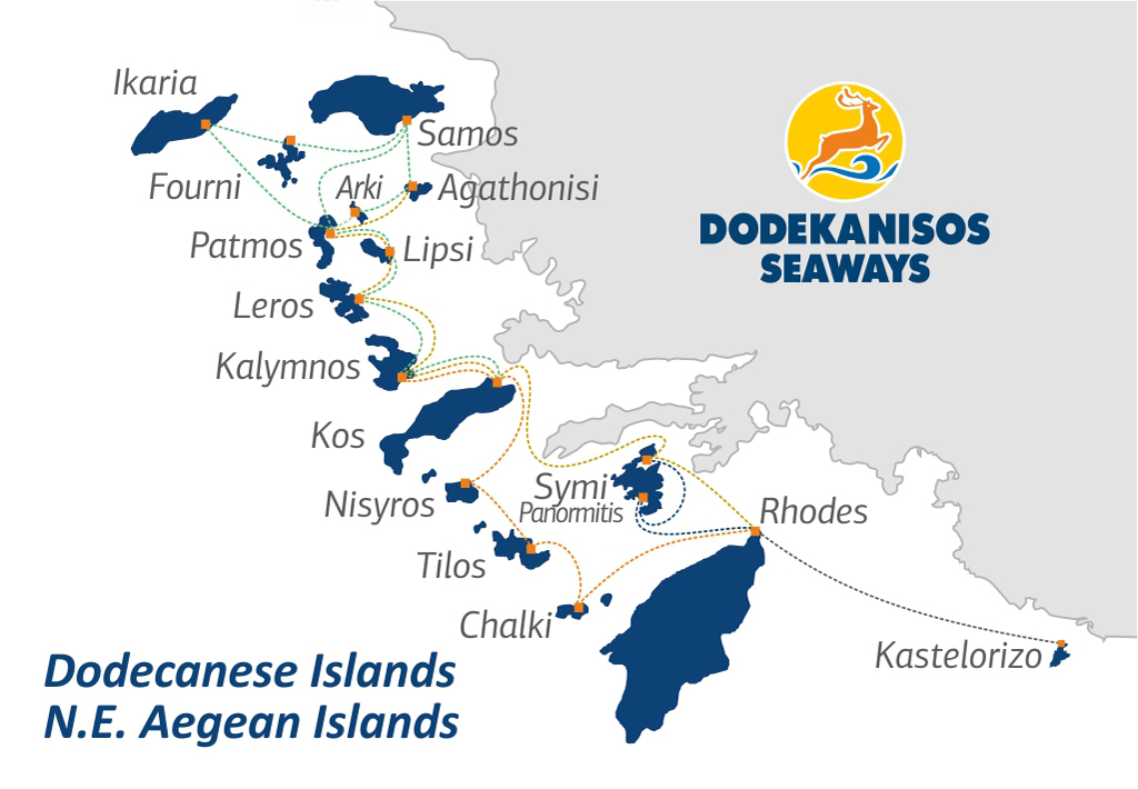 Dodekanes Inseln Inselhopping Dodekanisos seaways
