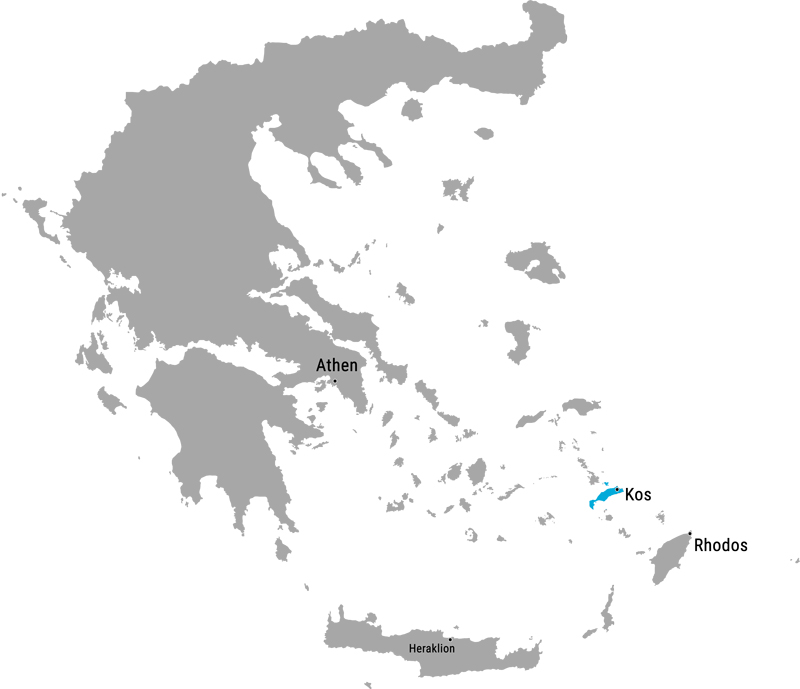 Insel Kos Karte • Die griechische Insel Kos im Überblick