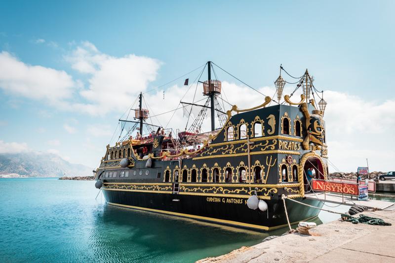 Kos Piratenschiff Ausflüge Nisyros 3 Inseltour