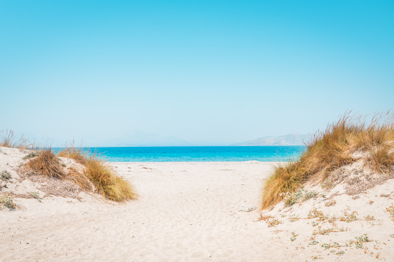 marmari beach kos dünen sandstrand